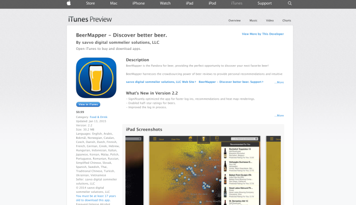 BeerMapper on the AppStore